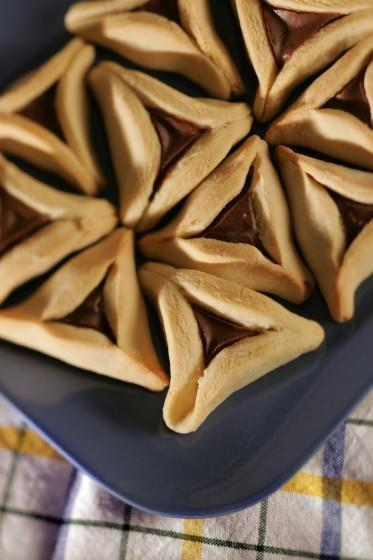 Could it possibly get any better than Nutella filling? Recipe: Hamantaschen with Nutella