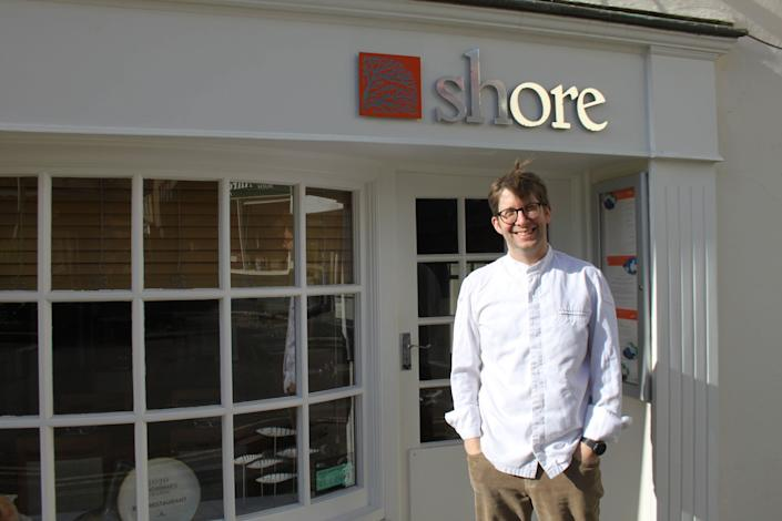 Bruce Rennie, owner of The Shore restaurant in Penzance, wishes the town would go further with its environmental campaigns. (Photo: Anna Turns)
