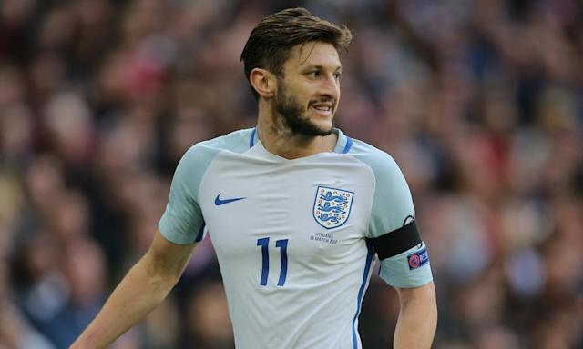 """<span class=""""element-image__caption"""">Adam Lallana played the entirety of England's 2-0 victory against Lithuania but picked up a thigh injury in the process.</span> <span class=""""element-image__credit"""">Photograph: Zemanek/BPI/Rex/Shutterstock</span>"""