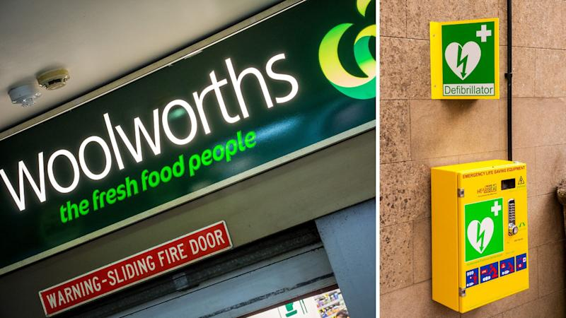 Woolworths is equipping all stores with a defibrillator. Images: Getty