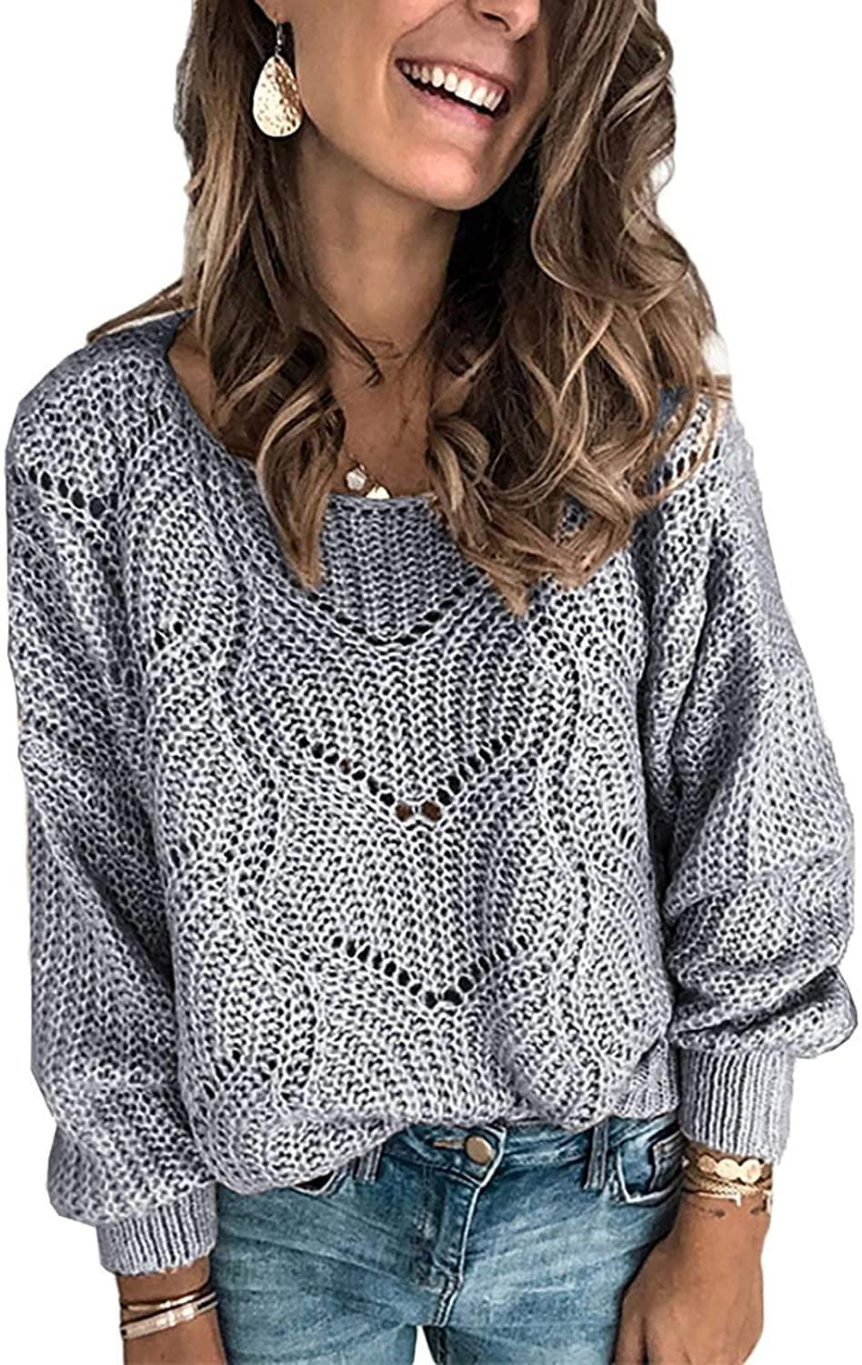 <p>It's hard to resist an oversized sweater and the loose-knit pattern on this <span>Dokotoo Hollow Cable Knit Pullover Sweater</span> ($34) is extra tempting in colors from khaki to pink.</p>