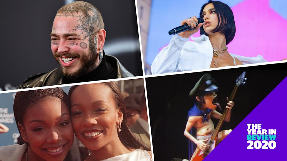 Post Malone, Dua Lipa, Brandy, Monica, Gorillaz