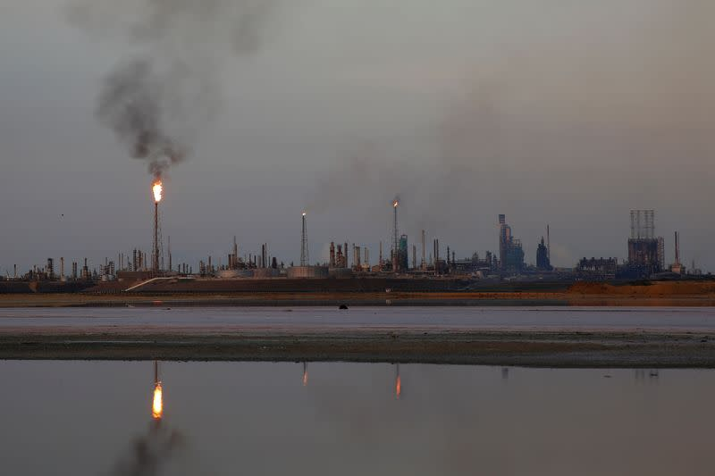 A general view of the Amuay refinery complex which belongs to the Venezuelan state oil company PDVSA in Punto Fijo