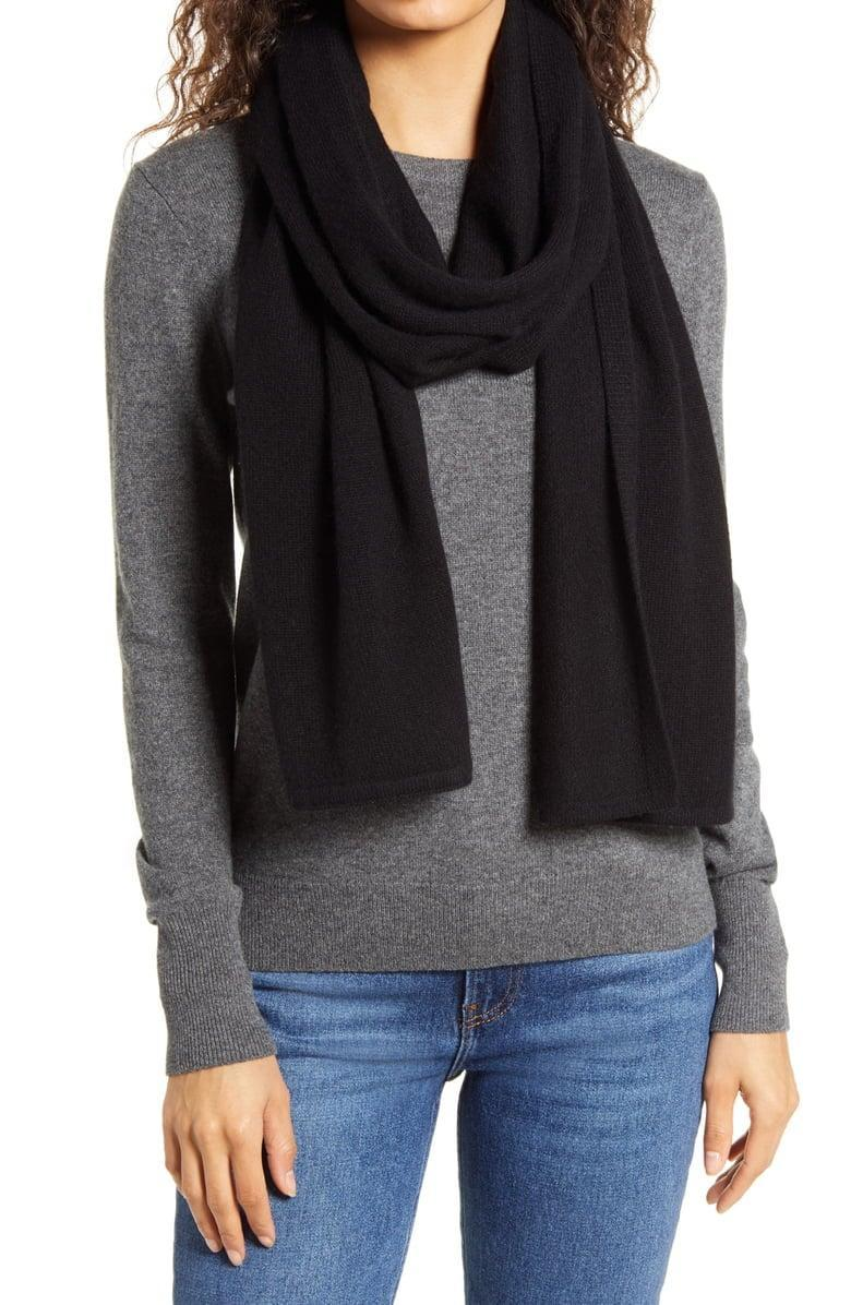<p>This <span>Everlane Cashmere Scarf</span> ($98) is always a good idea.</p>