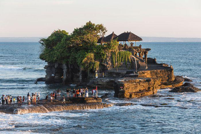 The temple of Tanah Lot, Bali.