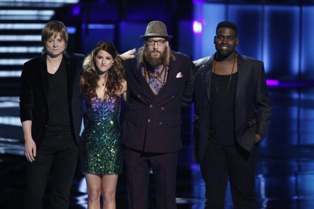 The final four contestants on 'The Voice' -- NBC