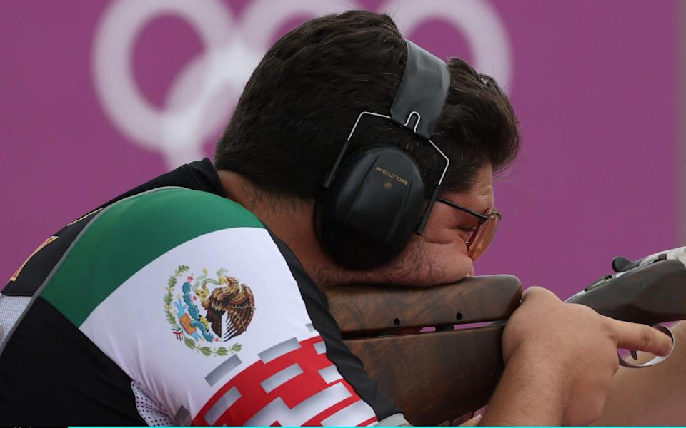 Jorge Martin Orozco Diaz of Team Mexico during Trap Men's Qualification on day five of the Tokyo 2020 Olympic Games at Asaka Shooting Range on July 28, 2021 in Asaka, Saitama, Japan - Getty Images AsiaPac/Getty Images AsiaPac