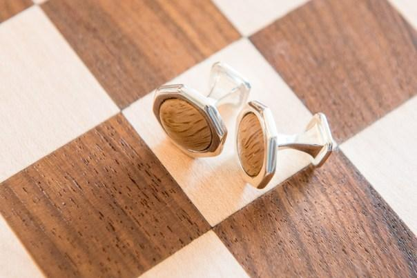 The Adare Manor oak and silver cufflinks—a small piece of Ireland on your wrists. Photo courtesy of Adare Manor