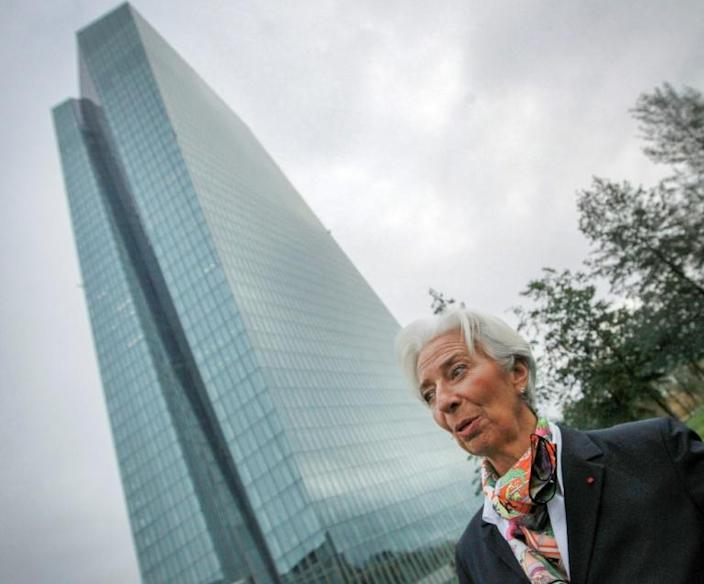 ECB chief Christine Lagarde has come under fire for her comments about Italy (AFP Photo/Daniel ROLAND)