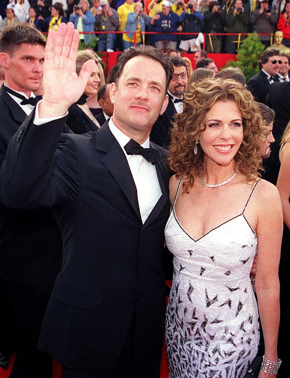 <p>Tom Hanks and Rita Wilson are classic #CoupleGoals. (That mustache, maybe a bit less timeless.)</p>