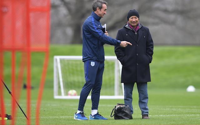 Eddie Jones at England training