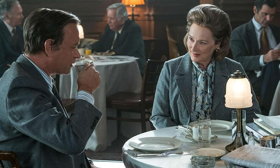 <p>Tom Hanks and Meryl Streep are on top form in Steven Spielberg's political thriller about the Pentagon Papers and the Washington Post's determination to publish them. It's a poignant story of journalistic integrity that came at a time when American needed to be reminded of the importance of a free press. </p>
