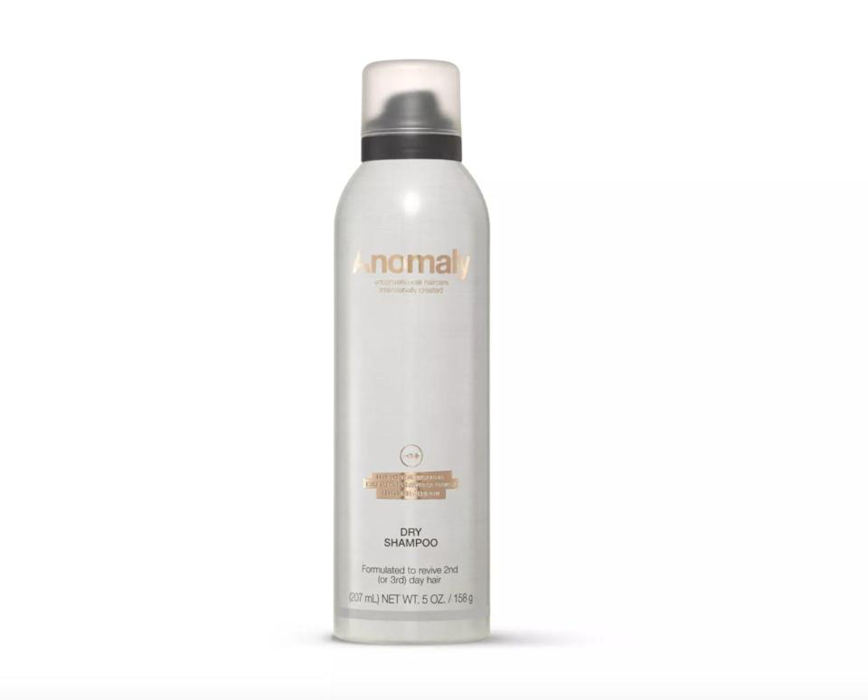 <p>The <span>Anomaly Dry Shampoo</span> ($6) feels lightweight and works wonders on all hair colors, including black.</p>