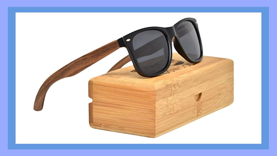 Gowood's Polarized Real Walnut Wood sunglasses - Amazon.