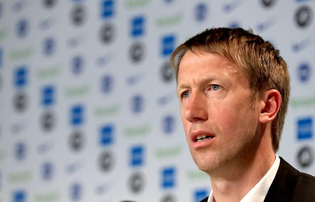 Graham Potter has kept in touch with his players (Gareth Fuller/PA)