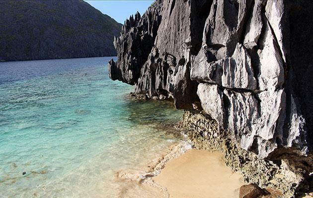 Palawan beach in the Philippines is dotted with limestone carsts. Photo: Getty