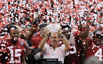 Saban last won a national title with Alabama in 2012. (AP)
