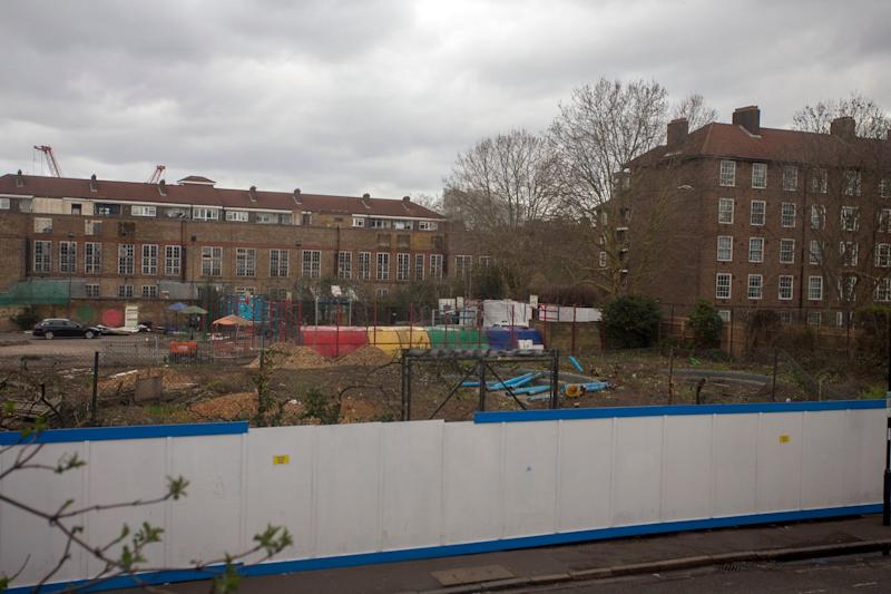 The site in Deptford after the trees were chopped down (carl fox)