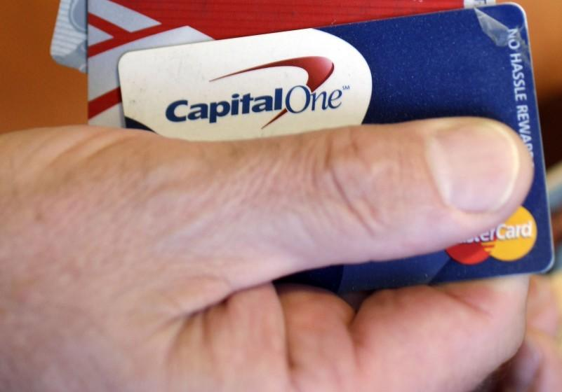 "Capital One froze a SoCal customer's credit card because it was concerned that a bank transfer to pay off $14,000 in debt might have been made by a scammer. <span class=""copyright"">(Associated Press)</span>"