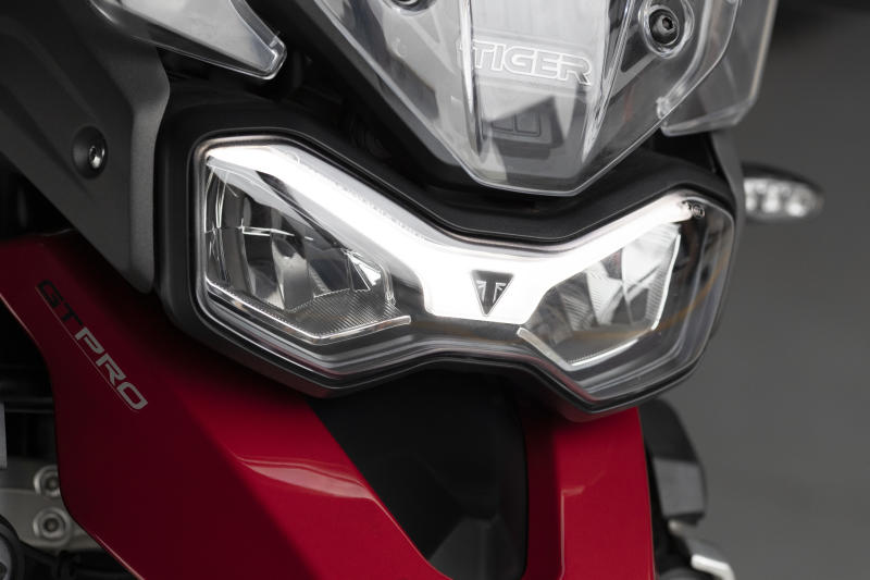 A new single daytime running light sits at the front of the bike