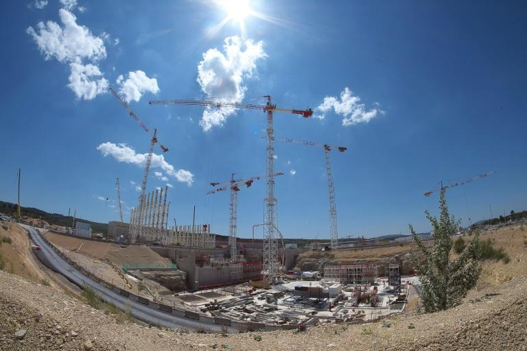 Picture taken of the construction site of the International Thermonuclear Le chantier du réacteur Iter (International Thermonuclear Experimental Reactor), le 18 mai 2015, à Saint-Paul-lez-Durance, dans le sud-est de la France