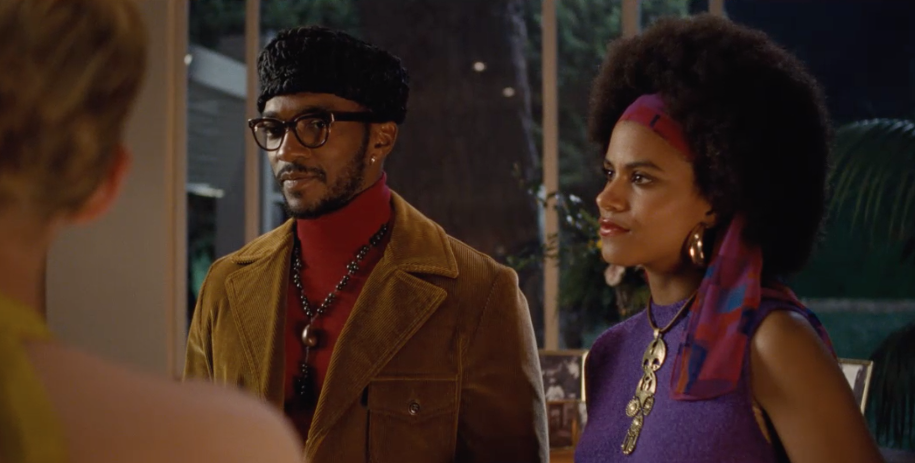 Anthony Mackie and Zazie Beetz in <i>Seberg</i>. (Universal/Amazon)