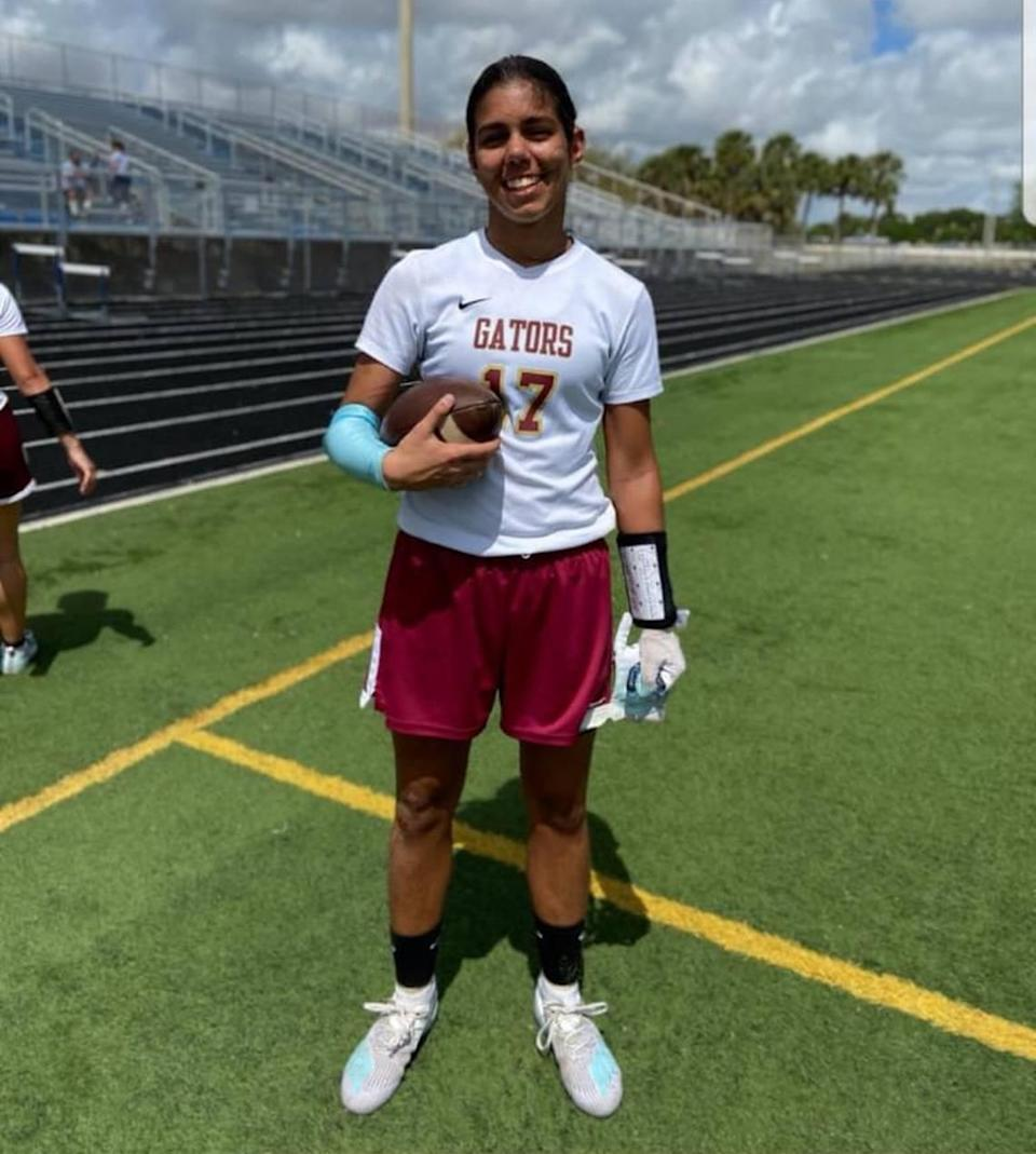 Goleman's Tiffany Walker committed to St. Thomas University's first women's flag football team.