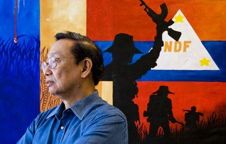 File photo of Philippines communist party founder Jose Maria Sison in Utrecht