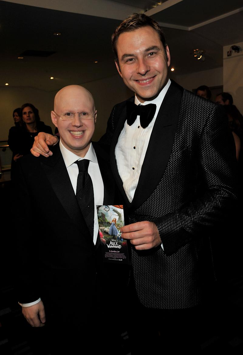 LONDON, ENGLAND - FEBRUARY 25: ActorsMatt Lucas and David Walliams attend the Royal World Premiere of Tim Burton's 'Alice In Wonderland' at the Odeon Leicester Square on February 25, 2010 in London, England. (Photo by Jon Furniss/WireImage)