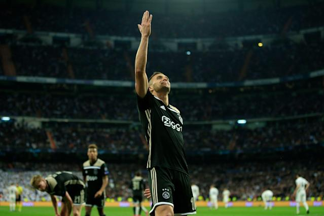 Dusan Tadic and Ajax had so much to celebrate on Tuesday. And so did our own Leander Schaerlaeckens. (Associated Press)