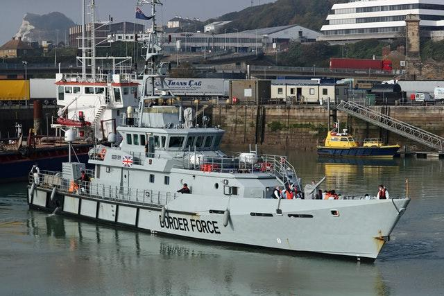 Border Force vessel HMC Seeker in Dover