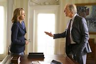 """<p><b>This Season's Theme: </b> """"The theme for the first half of the season is elections,"""" says executive producer Barbara Hall, speaking to the real-world presidential election and the one on the show that could find Secretary of State Elizabeth McCord (Téa Leoni) running for vice president. <br><br><b>Where We Left Off: </b> Elizabeth worried that she was about to be replaced when she got wind that a short list of candidates was being vetted for her job, President Dalton (Keith Carradine) told her that he actually wanted her as his running mate for the next election. <br><br><b>Coming Up: </b> Should we expect a title change to <i>Madame Vice President</i>? """"I feel like regardless of what we do, the title can stay the same. But we'll see,"""" says Hall. The season opener, directed by Morgan Freeman, jumps right into the election story, as well as some stand-alone foreign policy stories. Freeman, also an executive producer on the show, reprises his Chief Justice Willborn role. <br><br><b> On the Personal Side:</b> The three McCord kids (Stevie, Alison, and Jason) will still have prominent storylines and """"things between Elizabeth and Henry are very good,"""" says Tim Daly. """"They are challenged by this outside force that threatens them a little bit. But on a personal level they're doing great."""" And Dmitri fans, have no fear. """"We will see Dmitri again and we are hoping to pick up on what his life in America is about and what his relationship with Henry is like now,"""" says Hall. <i>– Abby West</i> <br><br>(Credit: Sarah Shatz/CBS)</p>"""
