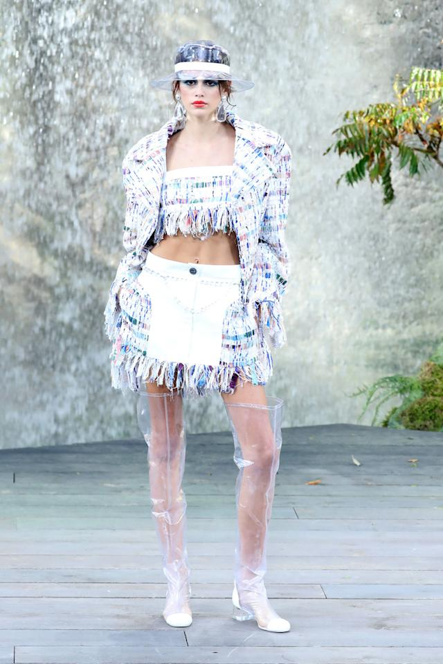 <p><strong>3 October</strong> Gerber opened the Chanel show on the final day of the Paris Fashion Week schedule.</p>