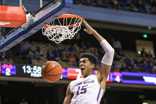"<a class=""link rapid-noclick-resp"" href=""/ncaab/players/126557/"" data-ylk=""slk:Chandler Hutchison"">Chandler Hutchison</a> has led Boise State into NCAA tournament contention this season. (Getty Images)"