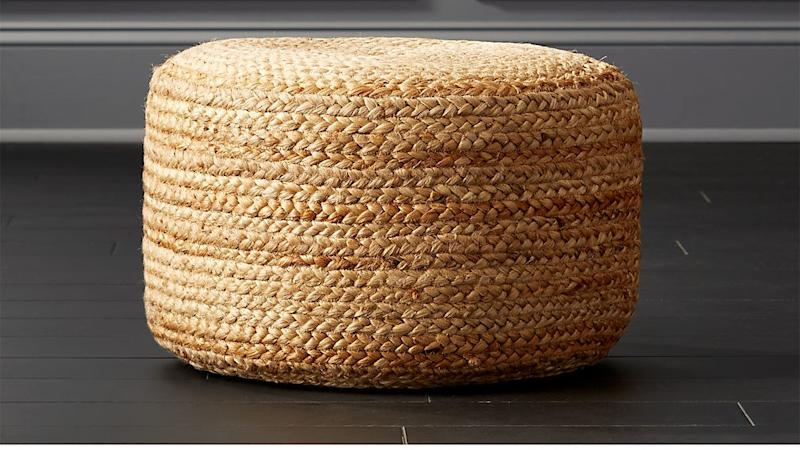 Use it as a seat or table or ottoman—this braided pouf is a multipurpose delight. SHOP NOW: Braided Jute Pouf by CB2, $68 $90, cb2.com
