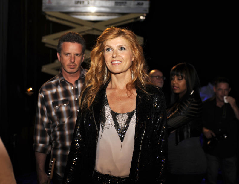"""This image released by ABC shows Connie Britton as country superstar Rayna from the new series """"Nashville"""" premiering Oct. 10, at 10 p.m. EST on ABC. (AP Photo/ABC, Katherine Bomboy-Thornton)"""