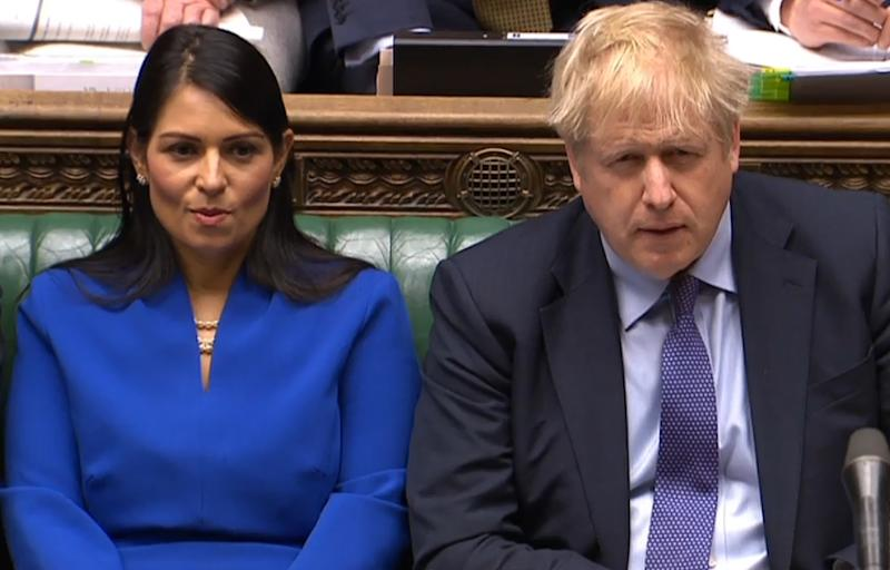 Sir Keir is calling on Ms Patel to face MPs in parliament (PRU/AFP via Getty Images)