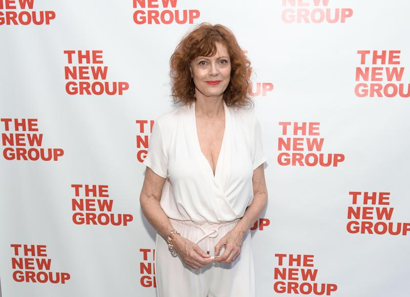 "NEW YORK, NEW YORK - MAY 16: Susan Sarandon attends the opening night of ""Happy Talk"" at Social Drink and Food Club Terrace on May 16, 2019 in New York City. (Photo by Noam Galai/Getty Images)"