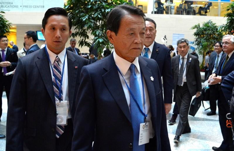 Japan financial minister Aso sees no need now for economic stimulus