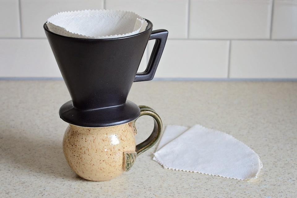 Penelope and Michele Reusable Cone Coffee Filter (Photo via Etsy)