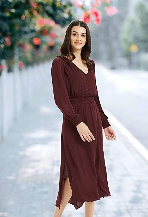 <p>This <span>Long-Sleeve Midi Dress</span> ($26) comes in all sorts of colors.</p>