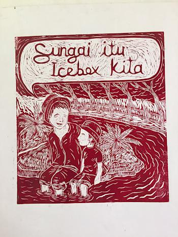 Pangrok Sulap's distinctive woodcut art conveys messages that can be positive or provocative.