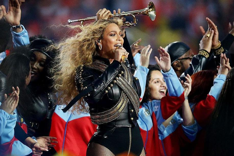 Beyonce performs during the Pepsi Super Bowl 50 Halftime Show in 2016 (Getty)Getty Images