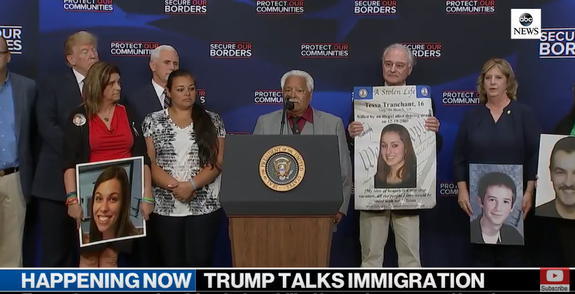 Trump signed these photos of murder victims.