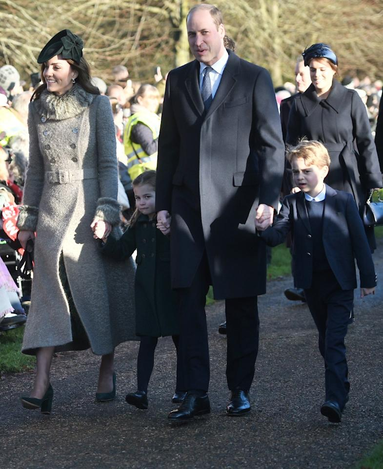 The Duke and Duchess of Cambridge were joined by Prince George and Princess Charlotte for Christmas Day morning church service at St Mary Magdalene Church in Sandringham, Norfolk on Wednesday.