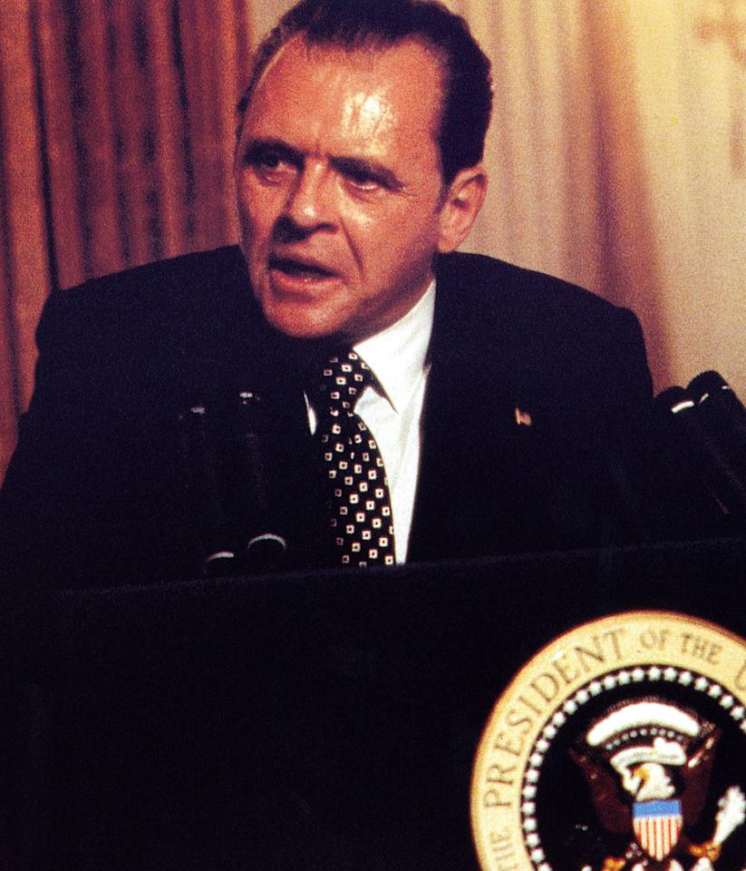 "Anthony Hopkins as Richard Nixon in 1995's ""Nixon"""