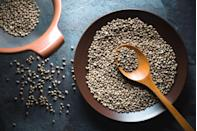 """<p>Classified as a nut, <a href=""""https://www.prevention.com/food-nutrition/a20517452/hemp-protein-powder/"""" rel=""""nofollow noopener"""" target=""""_blank"""" data-ylk=""""slk:hemp seeds"""" class=""""link rapid-noclick-resp"""">hemp seeds</a> are rich in nutrients, especially healthy fats that our body is unable to metabolize internally. </p><p>""""Hemp hearts supply us with in two essential fatty acids: linoleic acid (omega-6) and alpha-linolenic acid (omega-3),"""" says Malkoff-Cohen. """"Twenty-five percent of their calories come from protein (for comparison, chia and flax seeds are only 16 to 18 percent protein). You can top them over oatmeal, yogurt parfaits, and even salads. </p>"""