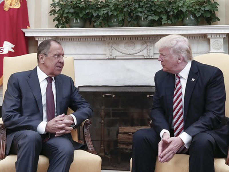 Donald Trump told Russian officials that firing 'nut job' Comey 'eased pressure from investigation'