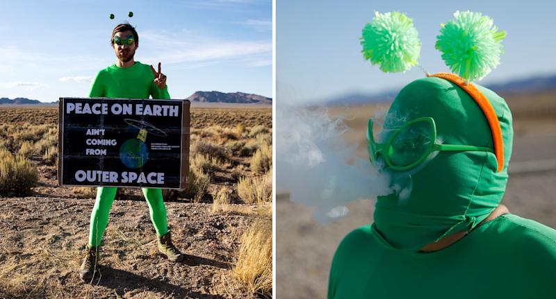 Attendees shown at scheduled Area 51 raid in the Nevada desert on September 20.