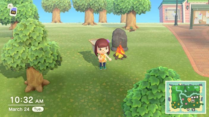 Animal Crossing Outside Campfire